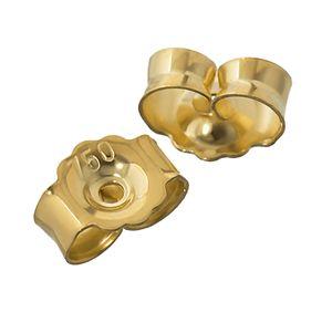 1Paar 750 Gelbgold Gegenstecker Ohrstecker Ohrstopper Loch 0,8mm Ohrmutter 4824