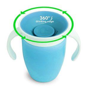 360 ° auslaufsicherer Trinkbecher für Kinder, Lernbecher, Baby-Erstickungsbecher, blau