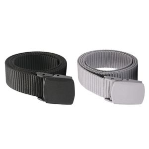 Nylon Gürtel Herren, Stoffgürtel Herren, Herrengürtel, 32mm Breit Gürtel, Anzugsgürtel Schwarz + Grau