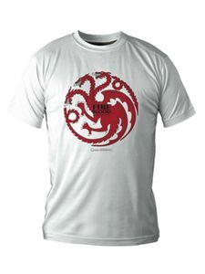 Targaryen-T-Shirt Game of Thrones weiss-schwarz-rot