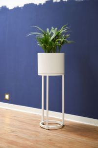 Blumentopf auf Ständer, mit Beinen ELEVATE ROUND - Weiß Matt - 25x69 cm