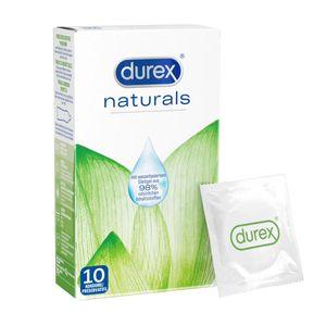 Durex Naturals Kondome aus natürlichen Inhaltsstoffen ohne Farbstoffen10 Stück