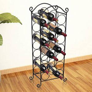 【Modernen Design】Weinregale Flaschenregal für 21 Flaschen MetallMöbel|Schränke|Weinregale♔8983