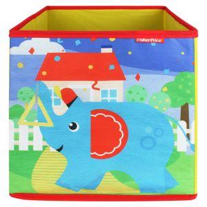 Fisher-Price Faltbox 30x30cm - Aufbewahrungsbox - Spielzeugkiste - Spielzeugtruhe - Elefant