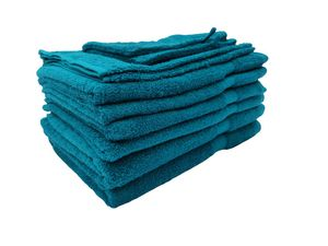 Merkanta Handtuch Set Petrol | 10 teilig | 2 Gästetücher 4 Handtücher 2 Duschtücher 2 Waschlappen | 100% Baumwolle | Mehrere Farbvarianten