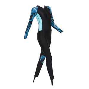 Neoprenanzug für Damen, Neoprenanzüge für Frauen in kaltem Wasser Ganzkörper-Tauchanzug zum Tauchen Schnorcheln Surfen Schwimmen Kanufahren Farbe Blaues M