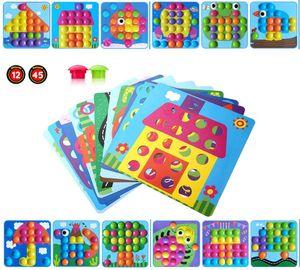 Mosaik Steckspiel für Kinder ab 2 Jahre,Lernspielzeug Geschenke ,Pädagogische Baustein Sets, Steckspielzeug Kinderspielzeug,Bunte Steckspiel,Spielzeug mädchen 2 3+ Jahre