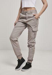 Urban Classics Damen Hose Ladies High Waist Cargo Pants Duskrose-28