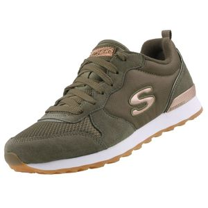 Skechers Damen Sneaker Sneaker Low Lederkombination grün 38