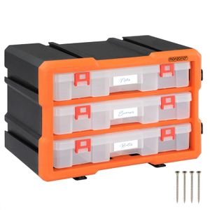 Monzana Kleinteilemagazin Sortimentskasten erweiterbar verschiedene Größen Sortierbox für Kleinteile Aufbewahrungsbox , Anzahl Fächer:36 Fächer