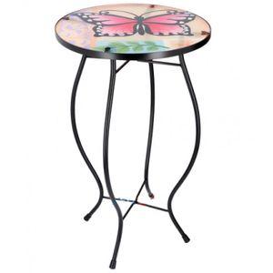Arti Casa mosaik-Tisch Schmetterling mehrfarbig 30x30x54 cm