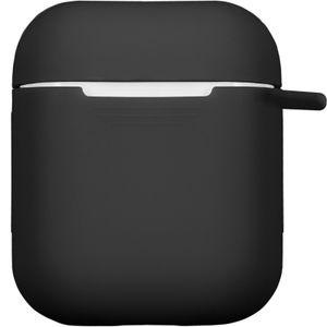 PhoneNatic Case kompatibel mit Apple AirPods - schwarz Silikon Hülle matt Cover
