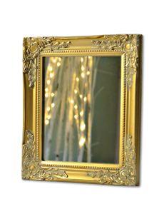 Spiegel Wandspiegel barock gold antik HOLZ Landhaus Cottage Badspiegel luxus