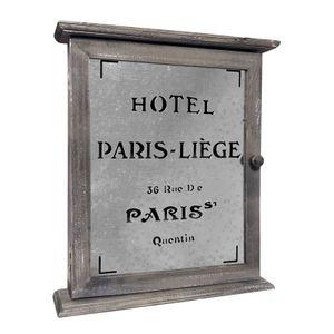 Nostalgischer Holz Schlüsselkasten PARIS - Schlüsselschrank - Schlüsselbrett - Aufbewahrung für Schlüssel