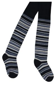 Tobeni 2 Paar schöne warme Thermo Strumpfhosen für Mädchen und Jungen, Farbe:Marine Blau, Grösse:110-116