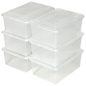 tectake Aufbewahrungsboxen 12er Set - transparent