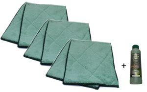 Bambus-Kristall Bambusfaser Wischtücher 6er plus Reiniger 250ml