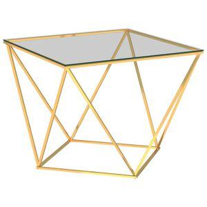 Couchtisch Golden 80x80x45 cm Edelstahl - Sofatisch Kaffeetisch Beistelltisch