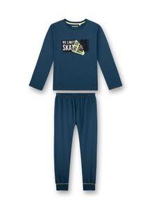 Sanetta Jungen Schlafanzug Set - lang, Kinder, 2-tlg. Print, 140-188 Blau 176
