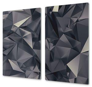 Spritzschutz Herdabdeckplatte Schneidebrett aus Glas Digitale 3D Formen, Anzahl Teile:2-Teilig