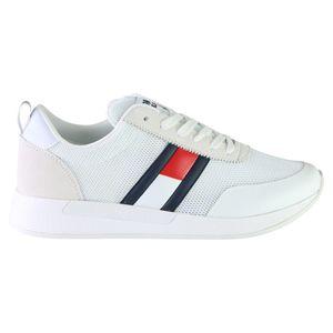 Tommy Hilfiger TH Flex Herren Sneaker Weiß (EM0EM00400 YBS) Größe: 43