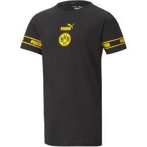 PUMA BVB Borussia Dortmund ftblCulture T-Shirt Kinder puma black/cyber yellow 152