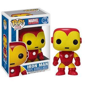 Pop! Marvel #4: Iron Man Vinyl Bobble-Head Wackelkopf Funko Avengers