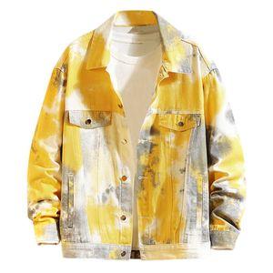 Herren Casual Herbst & Winter Jacke Langarm Sweatshirt Outwear Mantel Größe:L,Farbe:Gelb