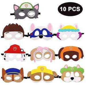 Puppy Party Masken Paw Dog Patrol Spielzeug,10 Stück Kinder Cosplay Masken Cosplay Party Masken Geburtstag Augen Masken passen für Maskerade Halloween Dress Up Party Supplies