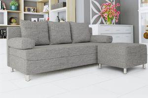Mirjan24 Schlafsofa Dover mit Bettkasten und Schlaffunktion, Bettsofa, Couch vom Hersteller (Sofa mit Polsterhocker, Farbe: Lawa 05)