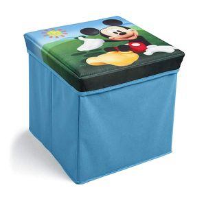 Disney Micky Maus Spielzeugkiste + Hocker Aufbewahrungsbox mit Deckel Spielzeugkiste Kindermöbel Mickey Mouse