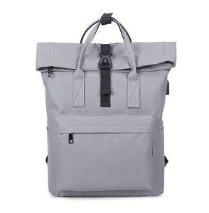 Leinwand Rucksack Laptop Fach Tasche Cityrucksack Backpack Freizeit Schulrucksack mit USB für Jugendliche Männlich