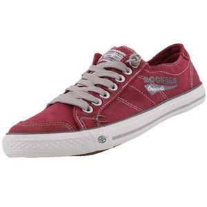 DOCKERS by Gerli Herren Sneaker Washed Canvas Schuhe viele Farben, Größe:EUR 40, Farbe:Rottöne