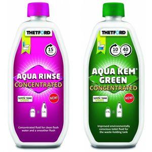 Thetford Aqua Rinse Konzentrat 750ml Kem Green 750ml