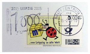 FDC mit 4-Cent-Briefmarke, 15.02.2015, Wellenstempel M-ware® ID15692