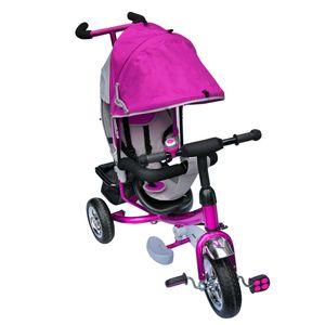 Dreirad  mit Dach Lenkstange Kinder 2-5 Jahre Fahrrad Lila metallic