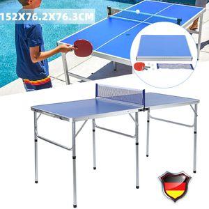 Tischtennisplatte Platte Tischtennistisch Tischtennis Set Tischtennisnetz Schläger Faltbar Klappbar 152cm*76cm*76cm