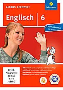 Alfons Lernwelt Lernsoftware Englisch 6. DVD-ROM für Windows 7  Vista  XP und Mac