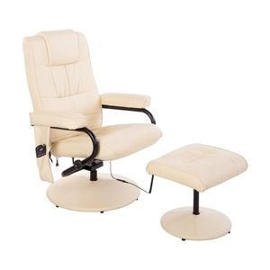HOMCOM Massagesessel mit Wärmefunktion und Hocker 77 x 73 x 95 cm (LxBxH)   Massagesessel Massagesessel Fernsehsessel Relaxsessel Sessel