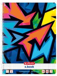 herlitz Collegeblock Neon Art DIN A4 liniert