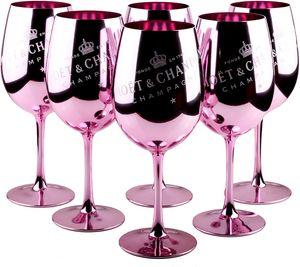 6X Moet & Chandon Imperial Gläser Echtglas Pink Rose Rosa Champagner Glas Limited Ibiza Champagnerglas