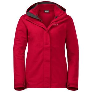 Jack Wolfskin POURING RAIN 3IN1 WOMEN clear red clear red S