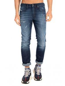 Diesel - Slim Fit Jeans - Thommer X 0095R Blau, Schrittlänge:L34, Größe:32W / 34L