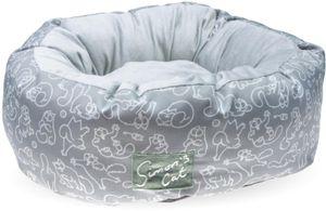Simon's Cat Katzenbett grau 55 cm x 55 cm x 20 cm Katzenkissen Katzenkorb