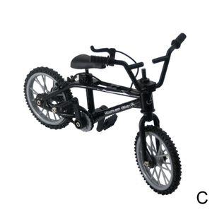 Retro Legierung Kunststoff Mini Finger BMX Fahrrad Montage Fahrrad Modell Neuheit Spielzeug Gadget Kinder Geschenk