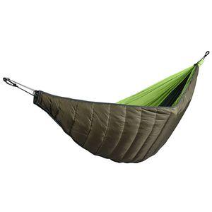Winter Outdoor Camping Verdicken Winddichte weiche warme Baumwolle Hängematte Bettbezug-Grün