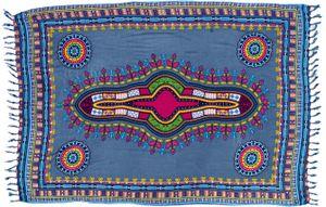 Dashiki Bali Sarong, Wandbehang, Afro Design Wickelrock, Sarongkleid - Grau, Unisex, Viskose, 160*110 cm, Sarongs, Strandtücher