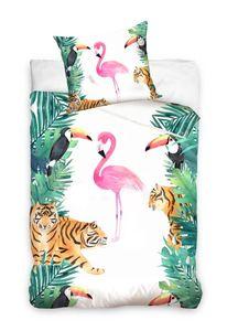 Flamingo - Bettwäsche, 140x200 & 70x90 cm