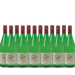 Weißwein Mosel Riesling Weingut Markus Burg Qualitätswein Big Bottle lieblich und vegan (12 x 1,0l)