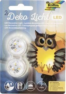 folia LED-Deko-Licht inkl. Batterien wasserdicht warmweiß 2 Stück